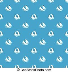 Writing book pattern vector seamless blue