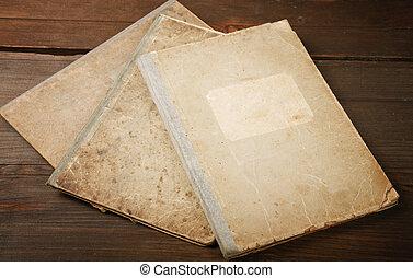 writing-books, 古い, レトロ, まだ生命