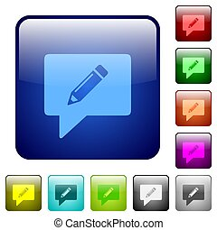 writing comment color square buttons