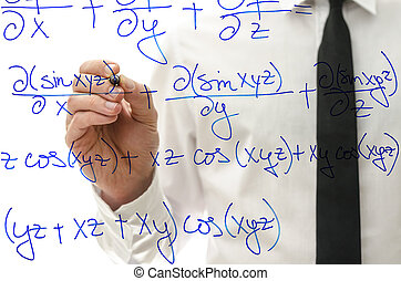 Writing complicated math equation on virtual board - College...