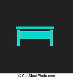 writing desk flat icon - Writing desk. Flat simple modern...