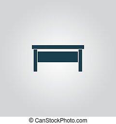 writing desk - Writing desk. Flat web icon or sign isolated...