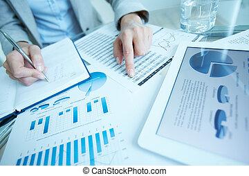 Writing down data