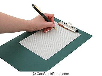 writing hand #3