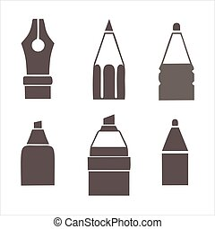 riting icon isolated on white background. Writing icon in trendy design style for web site and mobile app.