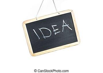 writing idea on school blackboard
