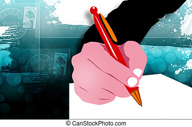 writing - Illustration of writing with a pen