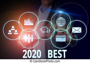 Writing note showing 2020 Best. Business photo showcasing ...