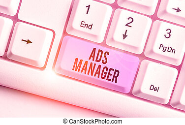 Writing note showing Ads Analysisager. Business photo ...