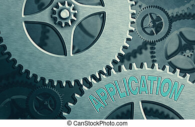 Writing note showing Application. Business photo showcasing ...