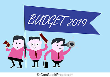 Writing note showing Budget 2019. Business photo showcasing ...