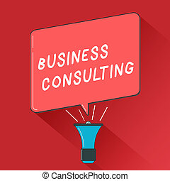 Writing note showing Business Consulting. Business photo showcasing Blends Practice of Academic Theoretical Expertise