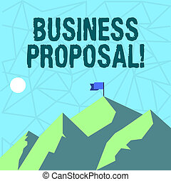 Writing note showing Business Proposal. Business photo...