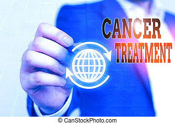 Writing note showing Cancer Treatment. Business photo ...