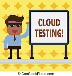 Writing note showing Cloud Testing. Business photo ...