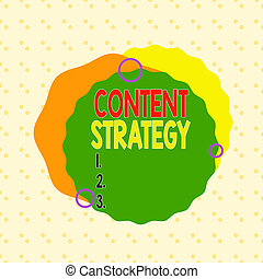 Writing note showing Content Strategy. Business photo ...