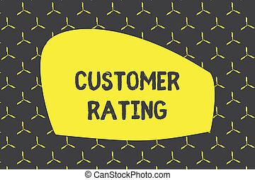 Writing note showing Customer Rating. Business photo ...