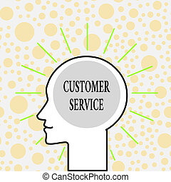 Writing note showing Customer Service. Business photo...