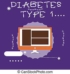 Writing note showing Diabetes Type 1. Business photo showcasing condition in which the pancreas produce little or no insulin