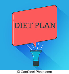 Writing note showing Diet Plan. Business photo showcasing ...