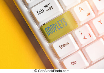 Writing note showing Droplets. Business photo showcasing ...