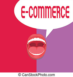 Writing note showing E Commerce. Business photo showcasing...