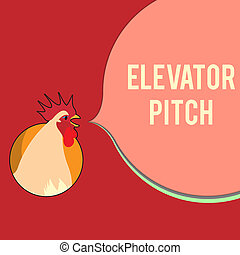 Writing note showing Elevator Pitch. Business photo ...