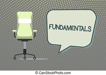 Writing note showing Fundamentals. Business photo showcasing Central primary rules principles on which something is based