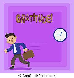 Writing note showing Gratitude. Business photo showcasing...