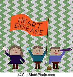 Writing note showing Heart Disease. Business photo showcasing Heart disorder Conditions that involve blocked blood vessels