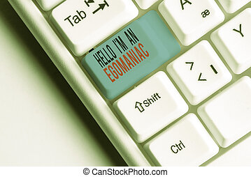Writing note showing Hello I M An Egoanalysisiac. Business ...