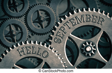 Writing note showing Hello September. Business photo ...