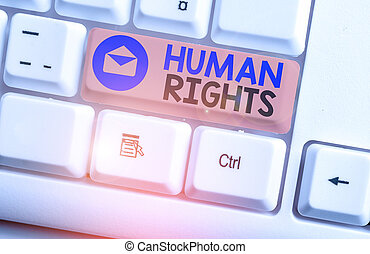 Writing note showing Huanalysis Rights. Business photo ...