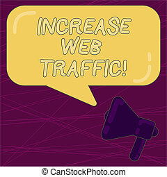 Writing note showing Increase Web Traffic. Business photo ...