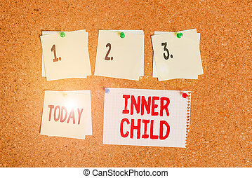Writing note showing Inner Child. Business photo showcasing ...