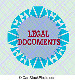 Writing note showing Legal Documents. Business photo ...