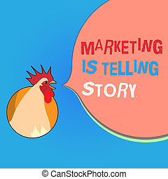 Writing note showing Marketing Is Telling Story. Business photo showcasing Breathe Life into the Brand Product or service