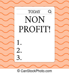 Writing note showing Non Profit. Business photo showcasing ...