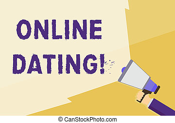 Writing note showing Online Dating. Business photo ...