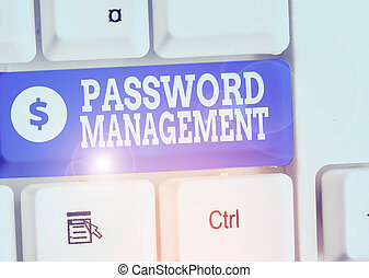 Writing note showing Password Management. Business photo ...