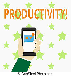 Writing note showing Productivity. Business photo showcasing...