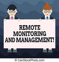 Writing note showing Remote Monitoring And Management. ...