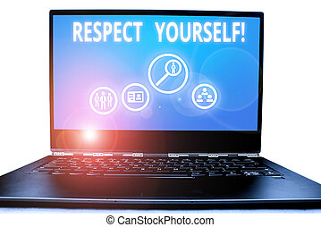Writing note showing Respect Yourself. Business photo ...