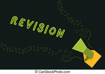 Writing note showing Revision. Business photo showcasing ...