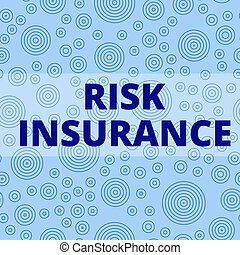 Writing note showing Risk Insurance. Business photo showcasing The possibility of Loss Damage against the liability coverage Multiple Layer Different Size Concentric Circles Diagram Repeat Pattern.