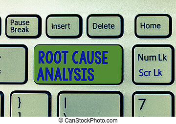 Writing note showing Root Cause Analysis. Business photo showcasing Method of Problem Solving Identify Fault or Problem