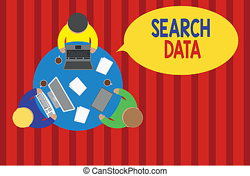 Writing note showing Search Data. Business photo showcasing ...