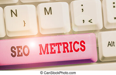 Writing note showing Seo Metrics. Business photo showcasing ...
