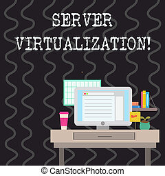Writing note showing Server Virtualization. Business photo...