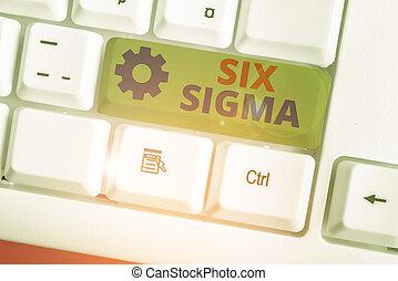 Writing note showing Six Sigma. Business photo showcasing ...
